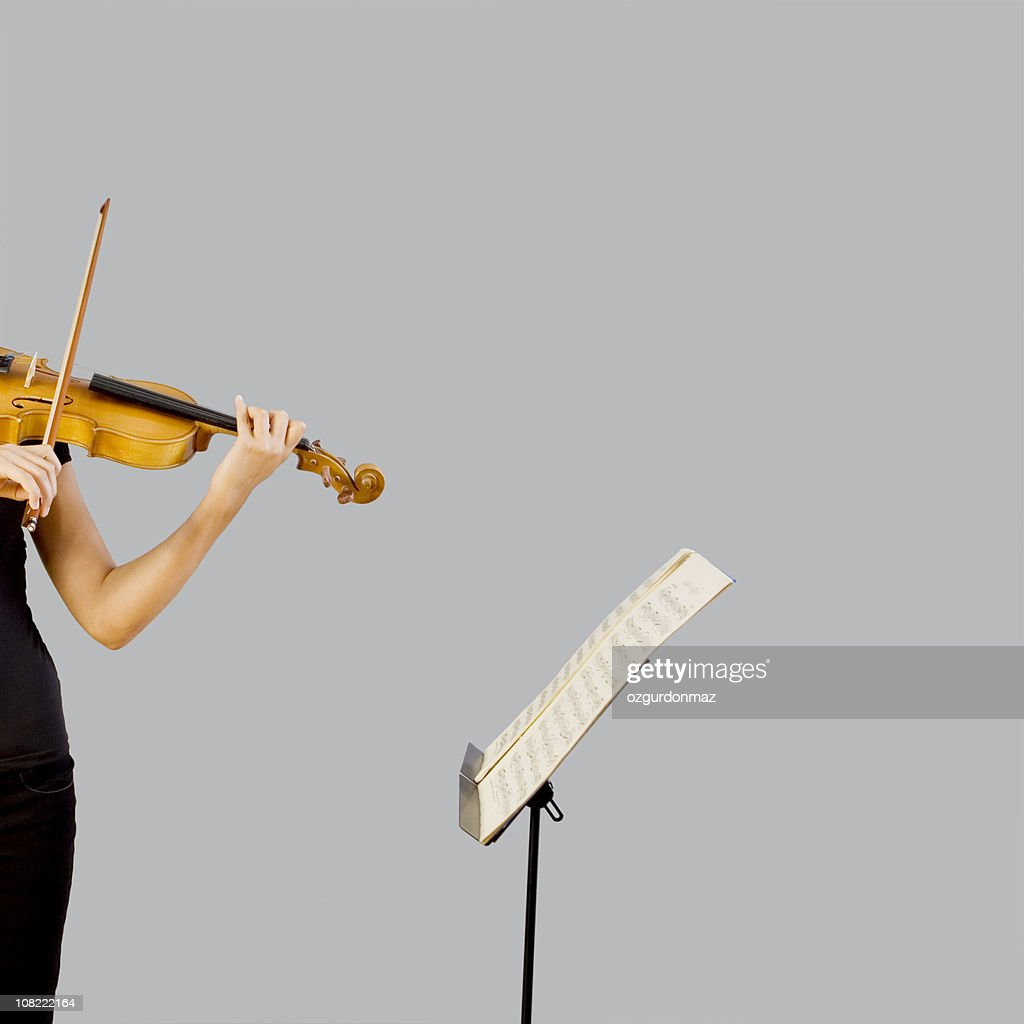 Playing violin : Stock Photo