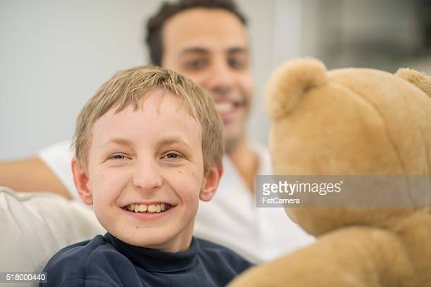 Playing with a Teddy Bear at Home