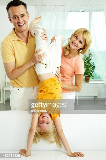 Playing with child : Stockfoto