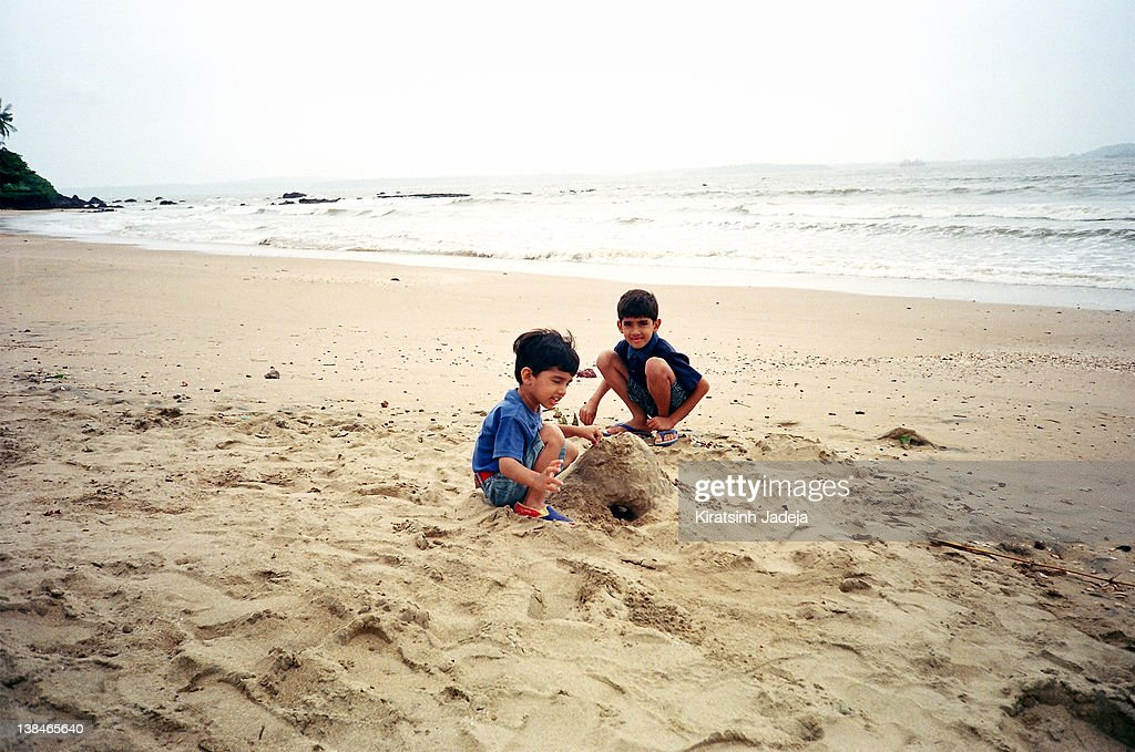 Playing With The Sand : Stock Photo