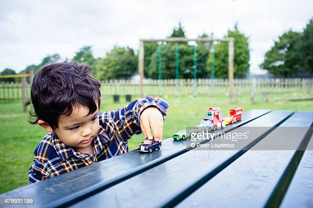Playing with toy cars