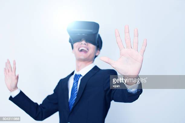 Playing With Virtual Reality Headset