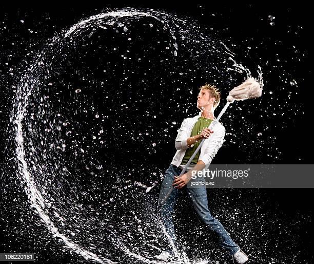 Jouant avec de l'eau