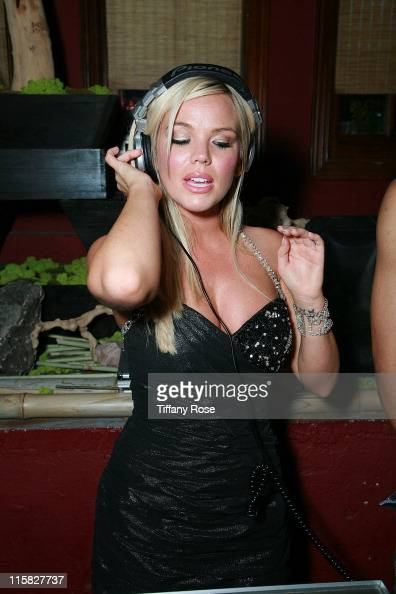 Playmate and DJ Colleen Shannon DJ's at the 50th Anniversary Playboy Playmate of the year party on April 12 2008 at Hadaka Sushi Restaurant Bar and...