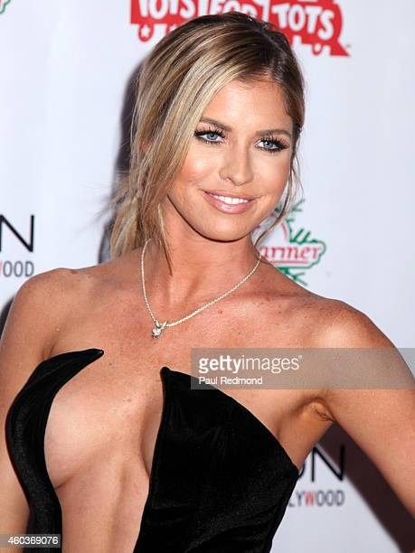 Playmate Carly Lauren attends The BenchWarmer 10th Annual Winter Wonderland Toys For Tots Christmas Celebration at Station Hollywood at W Hollywood...