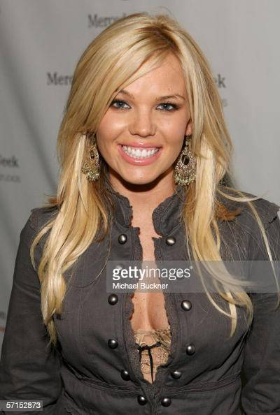 Playmate Colleen Shannon attends MercedesBenz Fashion Week at Smashbox Studios on March 21 2006 in Culver City California