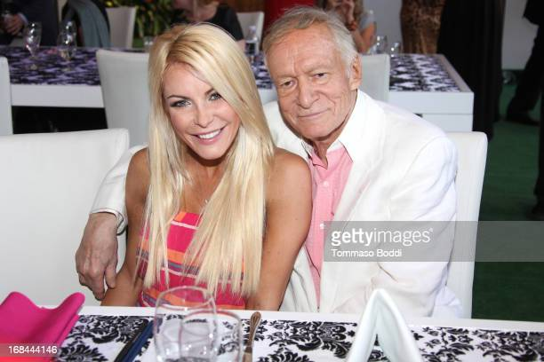 Playmate Crystal Hefner and Founder of Playboy Enterprises Hugh Hefner attend the 2013 Playboy Playmate of the Year announcement and reception held...