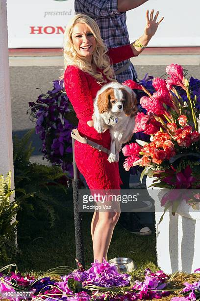 Playmate Crystal Hefner attends the 125th Tournament of Roses Parade Presented by Honda on January 1 2014 in Pasadena California