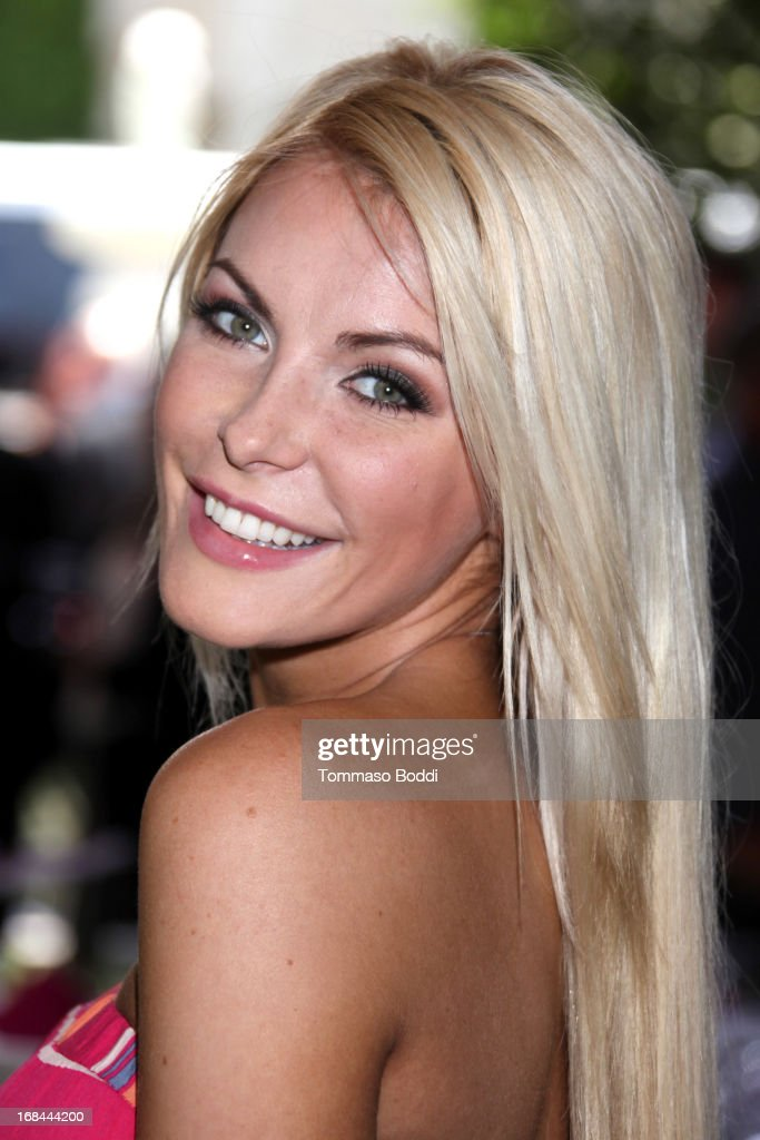 Playmate Crystal Hefner attends the 2013 Playboy Playmate of the Year announcement and reception held at The Playboy Mansion on May 9, 2013 in Beverly Hills, California.