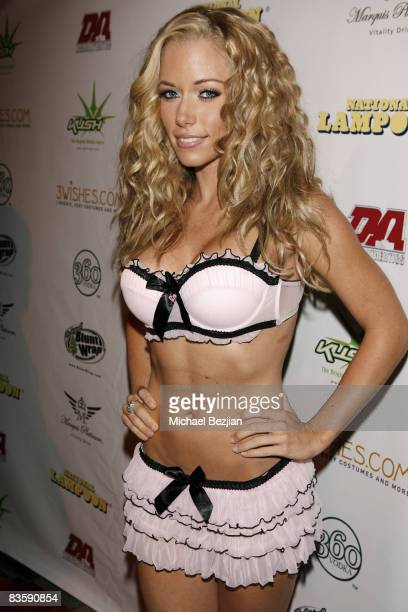 Playmate Kendra Wilkinson arrives at National Lampoon's A Night of Fantasy with The Girls Next Door Ludacris on September 6 2008 in Beverly Hills...