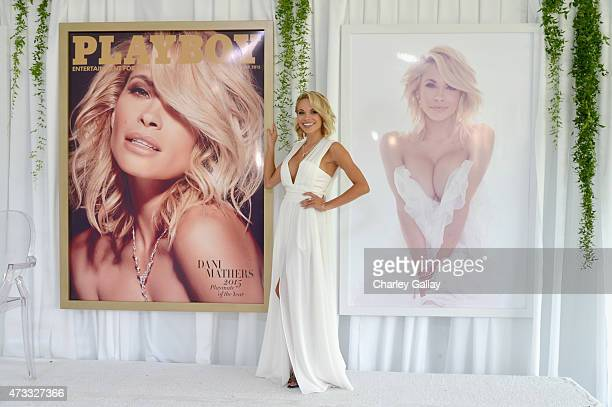 Playmate of the Year Dani Mathers attends Playboy's 2015 Playmate of the Year Ceremony at the Playboy Mansion on May 14 2015 in Los Angeles California