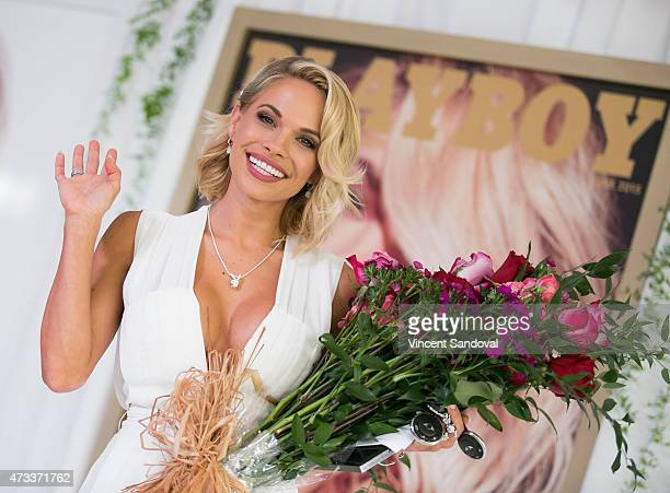 Playmate of the Year Dani Mathers attends Playboy's '2015 Playmate Of The Year' announcement and luncheon at The Playboy Mansion on May 14 2015 in...