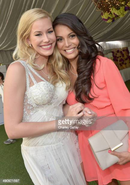 Playmate Of The Year Kennedy Summers and 2013 Playmate Of The Year Raquel Pomplun attend Playboy's 2014 Playmate Of The Year Announcement and...