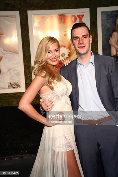 Playmate Of The Year Kennedy Summers and Cooper Hefner attend the Playboy's 2014 'Playmate Of The Year' announcement luncheon held at The Playboy...