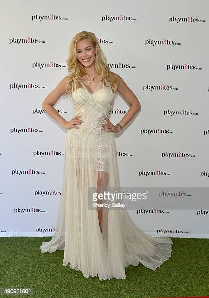 Playmate Of The Year Kennedy Summers attends Playboy's 2014 Playmate Of The Year Announcement and Reception at The Playboy Mansion on May 15 2014 in...