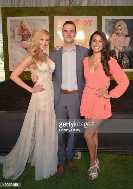 2014 Playmate Of The Year Kennedy Summers Cooper Hefner and 2013 Playmate Of The Year Raquel Pomplun attend Playboy's 2014 Playmate Of The Year...