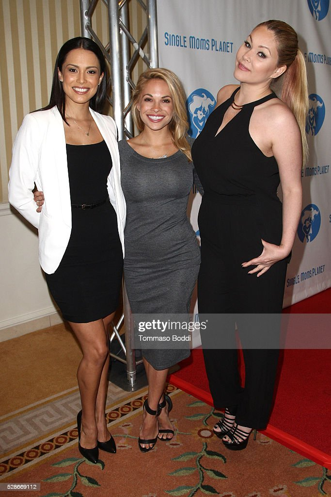 Playmate of the Year Raquel Pomplun, 2015 Playmate of the Year Dani Mathers and Model/Actress Shanna Moakler attends the Single Mom's Awards held at The Peninsula Beverly Hills on May 6, 2016 in Beverly Hills, California.