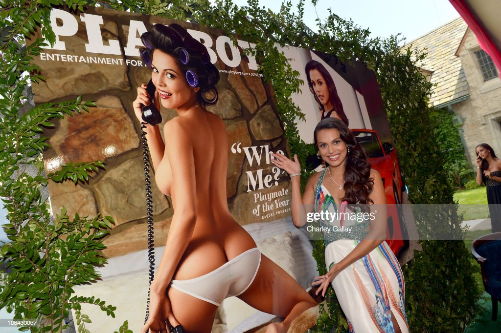 Playmate of the Year Raquel Pomplun attends Playboy's 2013 Playmate of the Year Luncheon at The Playboy Mansion on May 9, 2013 in Holmby Hills, California.