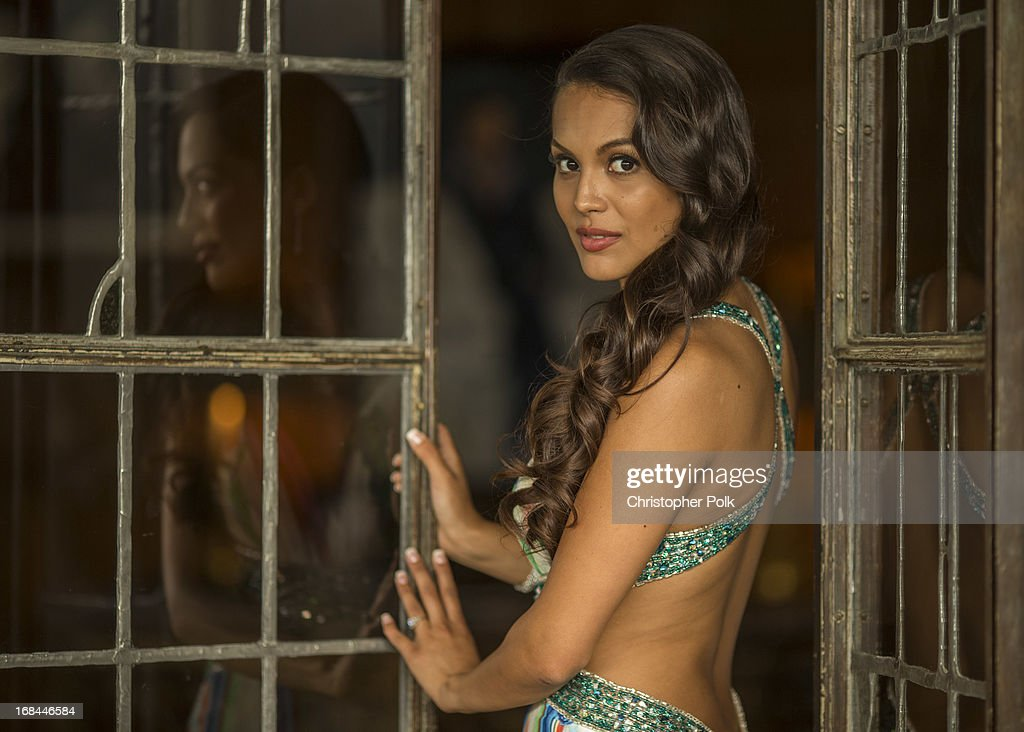 Playmate Of The Year Raquel Pomplun poses for a portrait during Playmate Of The Year Luncheon at The Playboy Mansion on May 9, 2013 in Holmby Hills, California.