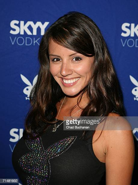 Playmate Penelope Jimenez attends the Playboy and Skyy Vodka Party on July 18 2006 in Los Angeles California