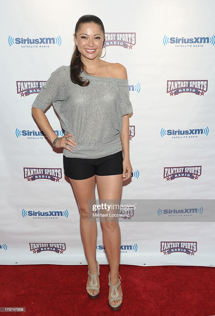 Playmate Pilar Lastra attends the SiriusXM Celebrity Fantasy Football Draft at Hard Rock Cafe - Times Square on July 17, 2013 in New York City.