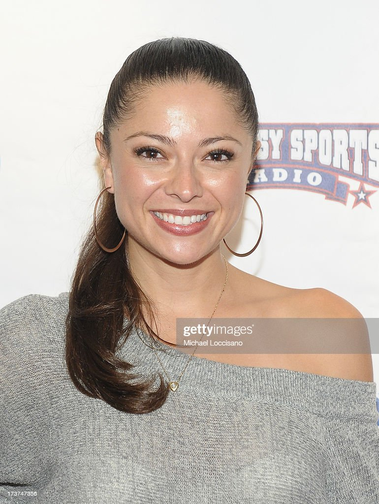 Playmate Pilar LKastra attends the SiriusXM Celebrity Fantasy Football Draft at Hard Rock Cafe - Times Square on July 17, 2013 in New York City.