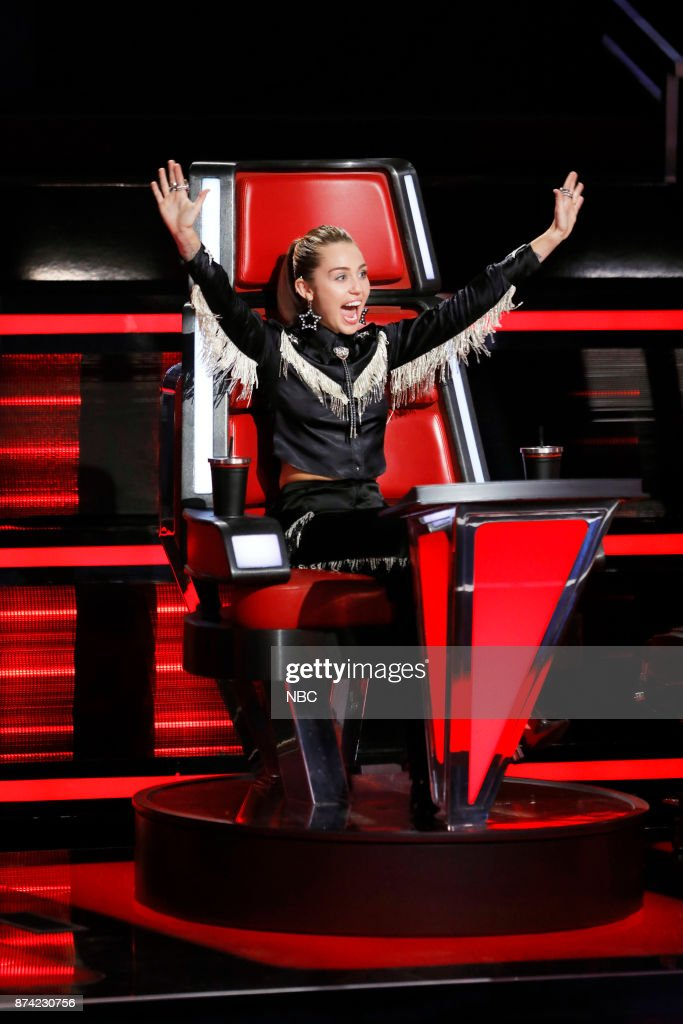 THE VOICE -- 'Playoff Rounds' -- Pictured: Miley Cyrus --