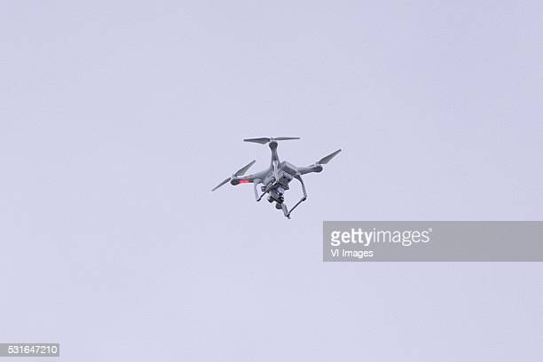 PlayOffs Heracles Drone during the Europa League Playoffs return match between Heracles Almelo and FC Groningen at Polman stadium on May 15 2016 in...