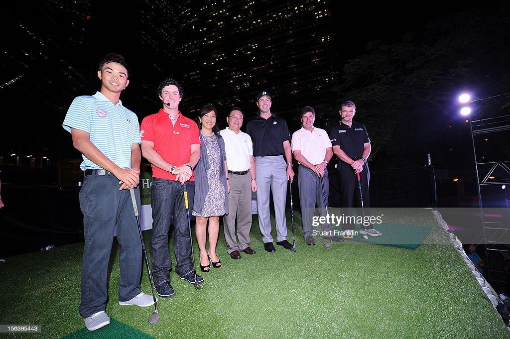 plays a shot during the first round of the UBS Hong Kong open at The Hong Kong Golf Club on November 15, 2012 in Hong Kong, Hong Kong.