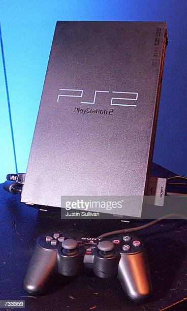 PlayStation 2 the new videogame machine from Sony is set to hit US stores October 26 2000 The new game system brings together games music and movies
