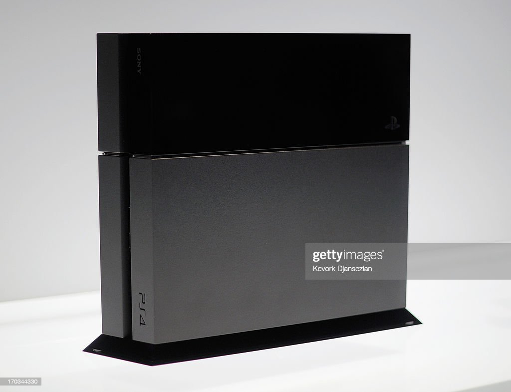 A Playstation 4 on display at the Sony Playstation E3 2013 booth at the Los Angeles Convention Center on June 11, 2013 in Los Angeles, California. Thousands are expected to attend the annual three-day convention to see the latest games and announcements from the gaming industry.