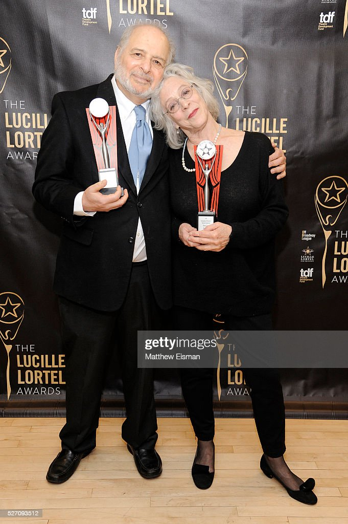Playwright Alfred Uhry and director Martha Clarke attend the press room for the 31st Annual Lucille Lortel Awards at NYU Skirball Center on May 1, 2016 in New York City.