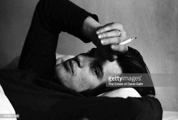 Playwright and actor Sam Shepard poses for a portrait on May 7 1971 at the Hotel Chelsea in New York City New York