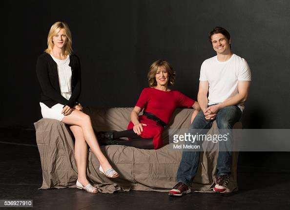 Playwright and actors of the play 'The City of Conversation' are photographed for Christine Lahti Jason Ritter Georgia King for Los Angeles Times on...