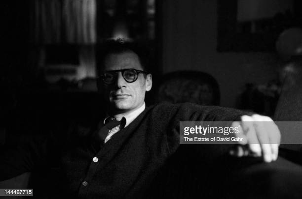 Playwright and author Arthur Miller poses for a portrait in 1959 at home in New York City New York