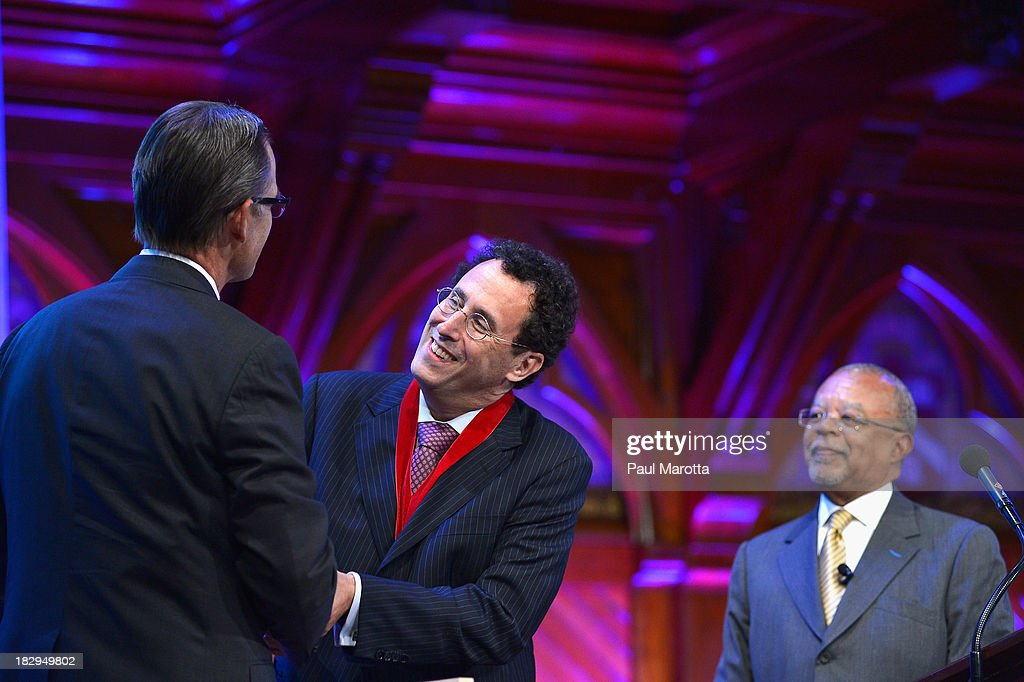 Playwright and Screenwriter <a gi-track='captionPersonalityLinkClicked' href=/galleries/search?phrase=Tony+Kushner&family=editorial&specificpeople=209161 ng-click='$event.stopPropagation()'>Tony Kushner</a> receives the 2013 W.E.B. Du Bois Medal at a ceremony at Harvard University's Sanders Theatre on October 2, 2013 in Cambridge, Massachusetts.