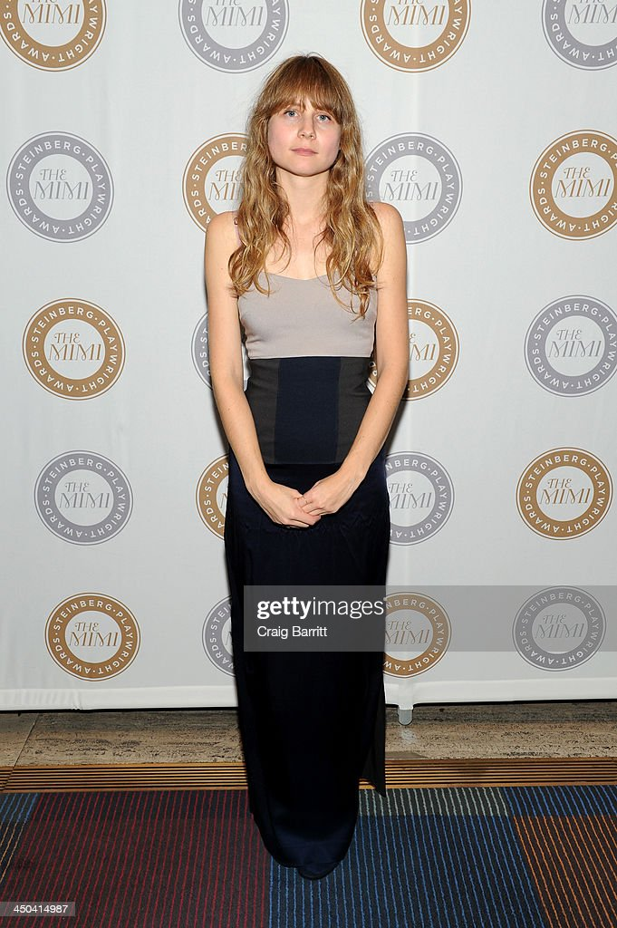 Playwright Annie Baker attends The 2013 Steinberg Playwright 'Mimi' Awards presented by The Harold and Mimi Steinberg Charitable Trust at Lincoln Center Theater on November 18, 2013 in New York City.