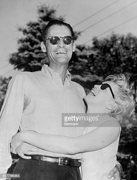 Playwright Arthur Miller and his bride to be Marilyn Monroe emerged from his woodsy retreat in Roxbury CT to pose for photographers and to tell of...