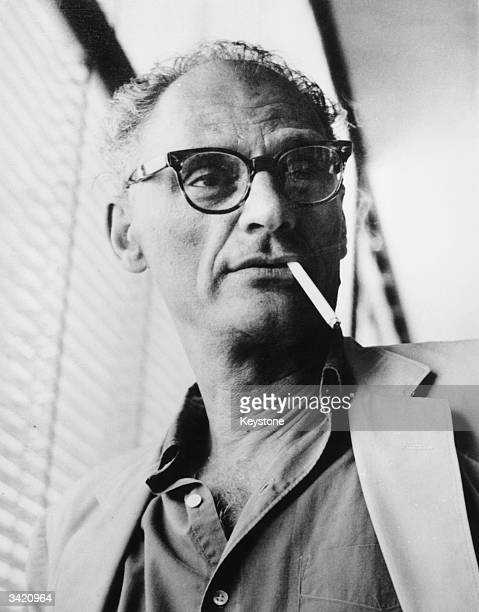 Playwright Arthur Miller in Geneva