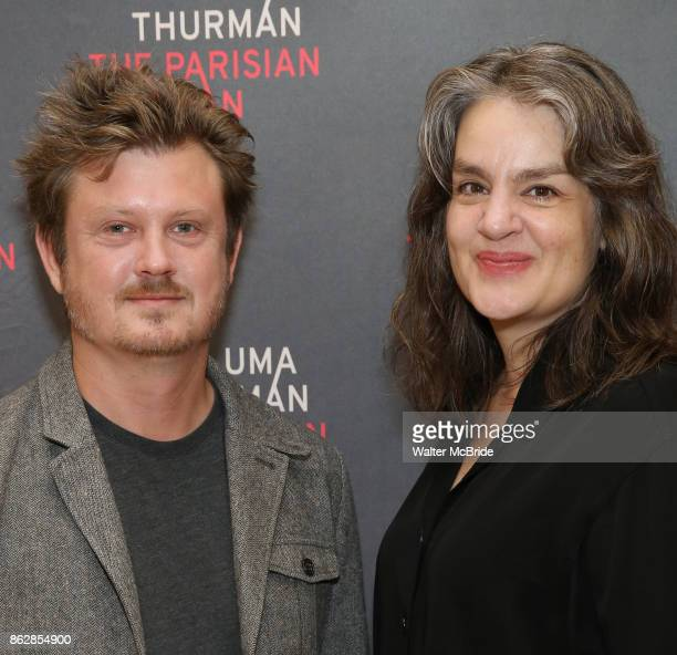 Playwright Beau Willimon and director Pam MacKinnon attend the Meet Greet Photo Call for the cast of Broadway's 'The Parisian Woman' at the New 42nd...