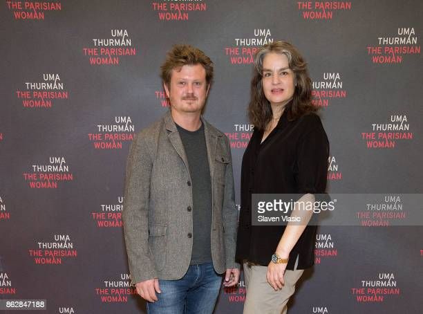 Playwright Beau Willimon and director Pam MacKinnon attend 'The Parisian Woman' Press Meet Greet at The New 42nd Street Studios on October 18 2017 in...