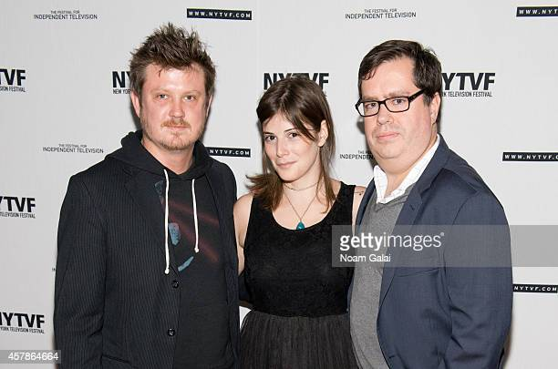 Playwright Beau Willimon writer Drew Grant and Founder and Executive Director of the New York Television Festival Terence Gray attend the creative...