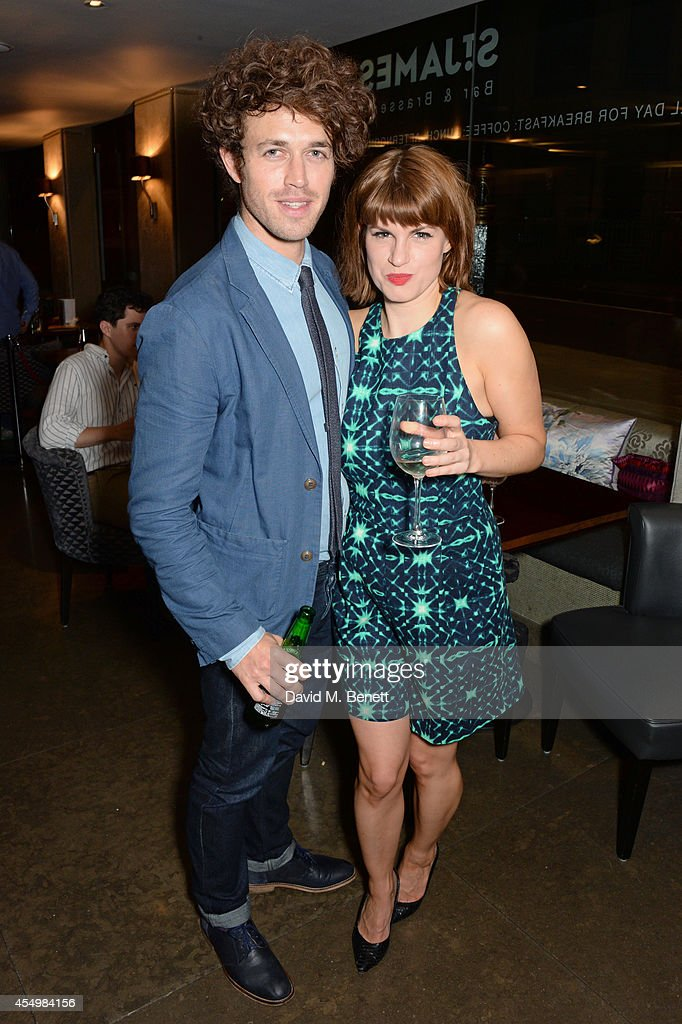Playwright Ben Ockrent and cast member Jemima Rooper attend an after party celebrating the press night performance of 'Breeders' at the St James...
