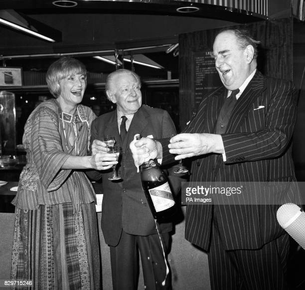 Playwright Ben Travers 90 tomorrow in a prebirthday celebration with Sheila Hancock and Robert Morley in the stalls bar of the Lyric Theatre...