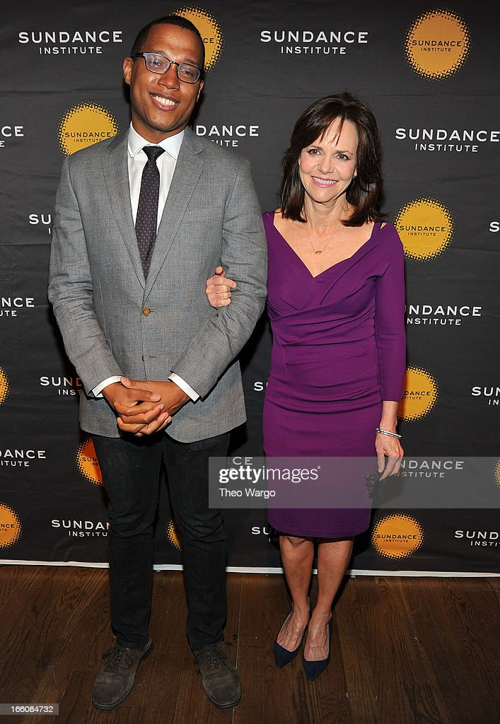 Playwright Branden Jacobs-Jenkins and actress <a gi-track='captionPersonalityLinkClicked' href=/galleries/search?phrase=Sally+Field&family=editorial&specificpeople=206350 ng-click='$event.stopPropagation()'>Sally Field</a> attend the Celebrate Sundance Institute benefit for its Theatre Program, supported by CÎROC Vodka at the Stephen Weiss Studio on April 8, 2013 in New York City.