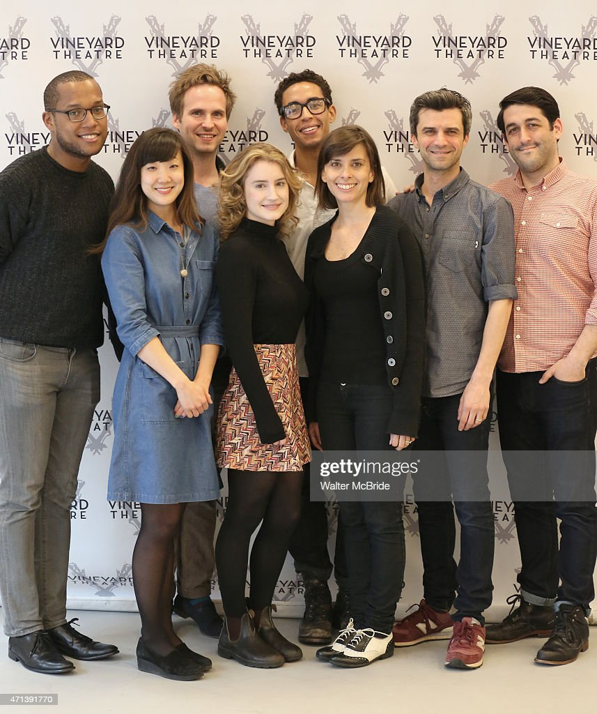 Playwright Branden JacobsJenkins Jennifer Kim Ryan Spahn Catherine Combs Kyle Beltran Jeanine Serralles Michael Crane and director Evan Cabnet during...