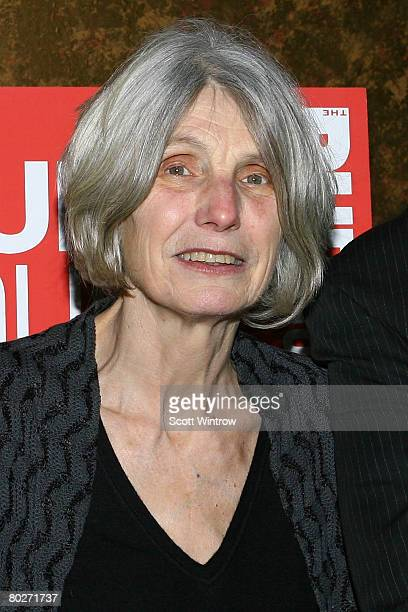 Playwright Caryl Churchill attends an opening night party for 'Drunk Enough To Say I Love You' at Forum on March 16 2008 in New York City