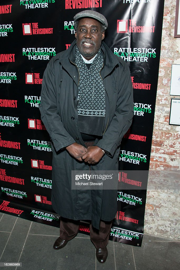 Playwright Charles Fuller attends 'The Revisionist' Opening Night at Cherry Lane Theatre on February 28, 2013 in New York City.