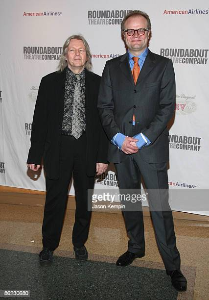 Playwright Christopher Hampton and Director David Grindley attend 'The Philanthropist' Broadway opening night party at the Roundabout Theatre...