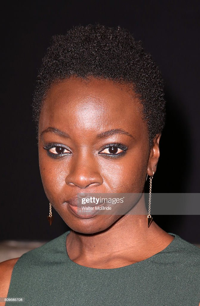 Playwright Danai Gurira attends the meet and greet the all-female cast and creative team and launch of the 10,000 girls initiative of Broadway's 'Eclipsed' at the Golden Theatre on February 11, 2016 in New York City.